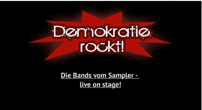 Video:Demokratie rockt - Das Konzert - Trailer (YouTube)