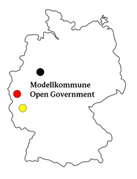 Logo Modellkommune Open Government